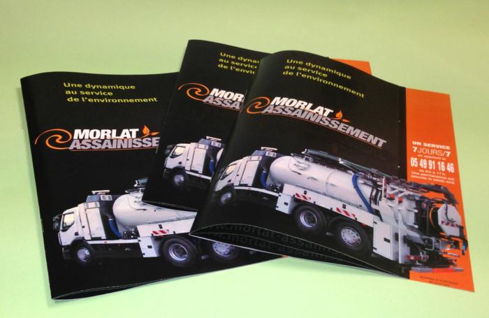 Brochure pour l'entreprise Morlat Assainissement